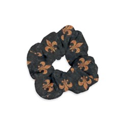 ROYAL1 BLACK MARBLE & RUSTED METAL Velvet Scrunchie