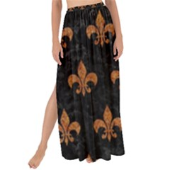 ROYAL1 BLACK MARBLE & RUSTED METAL Maxi Chiffon Tie-Up Sarong