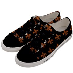 ROYAL1 BLACK MARBLE & RUSTED METAL Men s Low Top Canvas Sneakers