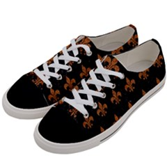 ROYAL1 BLACK MARBLE & RUSTED METAL Women s Low Top Canvas Sneakers