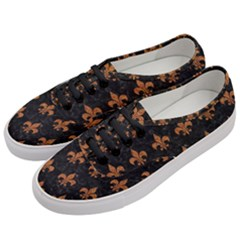 ROYAL1 BLACK MARBLE & RUSTED METAL Women s Classic Low Top Sneakers