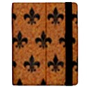 ROYAL1 BLACK MARBLE & RUSTED METAL (R) Apple iPad 2 Flip Case View2