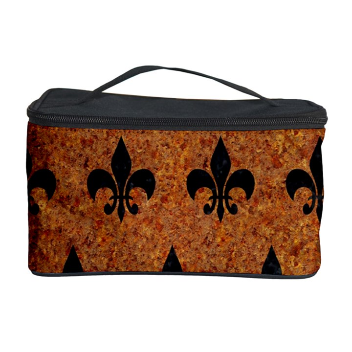 ROYAL1 BLACK MARBLE & RUSTED METAL (R) Cosmetic Storage Case