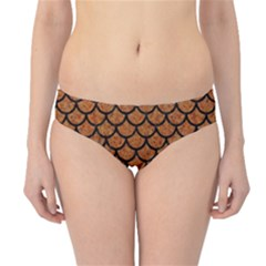 Scales1 Black Marble & Rusted Metal Hipster Bikini Bottoms