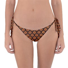 Scales1 Black Marble & Rusted Metal Reversible Bikini Bottom by trendistuff