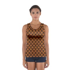 Scales1 Black Marble & Rusted Metal Sport Tank Top