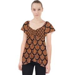 Scales1 Black Marble & Rusted Metal Lace Front Dolly Top