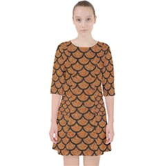 Scales1 Black Marble & Rusted Metal Pocket Dress