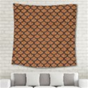SCALES1 BLACK MARBLE & RUSTED METAL Square Tapestry (Large) View2