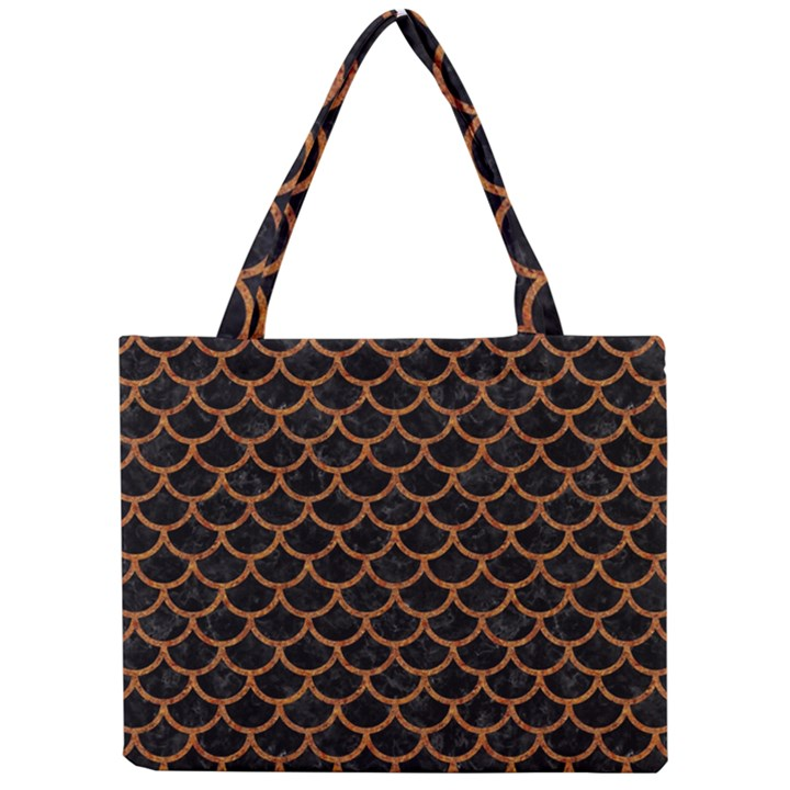 SCALES1 BLACK MARBLE & RUSTED METAL (R) Mini Tote Bag
