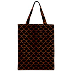 Scales1 Black Marble & Rusted Metal (r) Zipper Classic Tote Bag