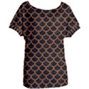 SCALES1 BLACK MARBLE & RUSTED METAL (R) Women s Oversized Tee View1