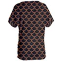 SCALES1 BLACK MARBLE & RUSTED METAL (R) Women s Oversized Tee View2