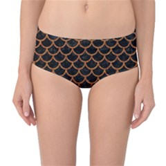 Scales1 Black Marble & Rusted Metal (r) Mid Waist Bikini Bottoms by trendistuff