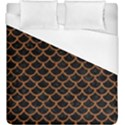 SCALES1 BLACK MARBLE & RUSTED METAL (R) Duvet Cover (King Size) View1