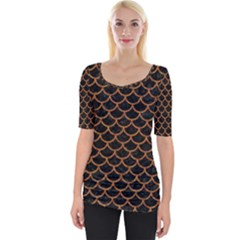 Scales1 Black Marble & Rusted Metal (r) Wide Neckline Tee by trendistuff