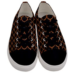 Scales1 Black Marble & Rusted Metal (r) Men s Low Top Canvas Sneakers