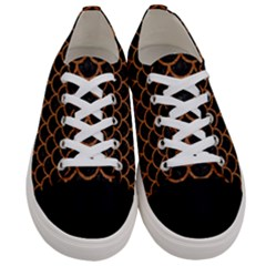 Scales1 Black Marble & Rusted Metal (r) Women s Low Top Canvas Sneakers