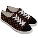 SCALES1 BLACK MARBLE & RUSTED METAL (R) Women s Low Top Canvas Sneakers View3