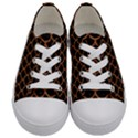 SCALES1 BLACK MARBLE & RUSTED METAL (R) Kids  Low Top Canvas Sneakers View1