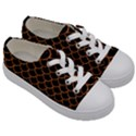 SCALES1 BLACK MARBLE & RUSTED METAL (R) Kids  Low Top Canvas Sneakers View3