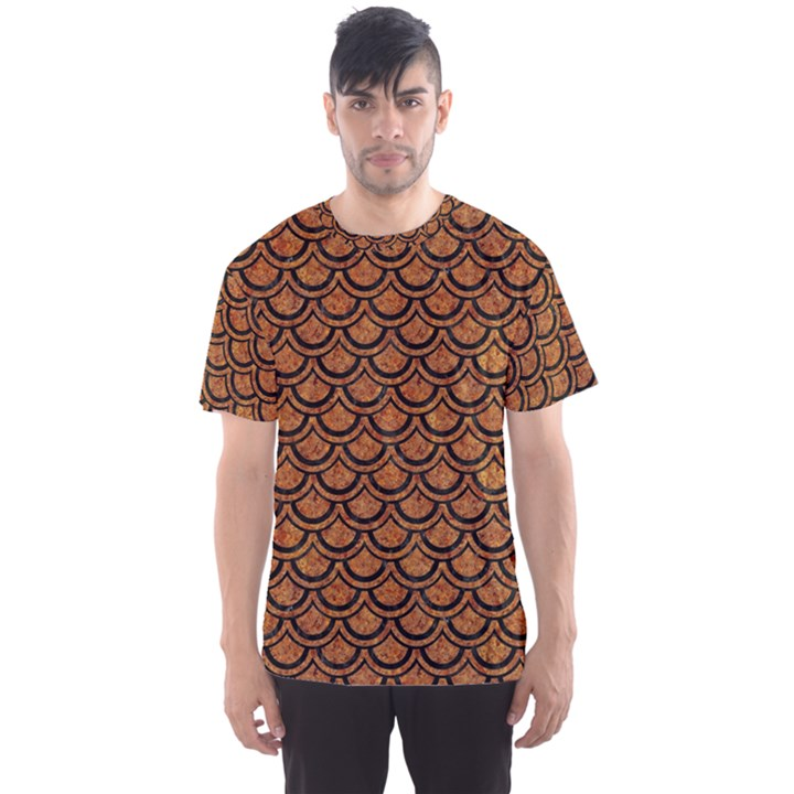 SCALES2 BLACK MARBLE & RUSTED METAL Men s Sports Mesh Tee