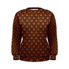 Scales2 Black Marble & Rusted Metal Women s Sweatshirt