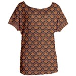 SCALES2 BLACK MARBLE & RUSTED METAL Women s Oversized Tee