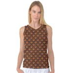 SCALES2 BLACK MARBLE & RUSTED METAL Women s Basketball Tank Top