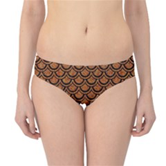 Scales2 Black Marble & Rusted Metal Hipster Bikini Bottoms