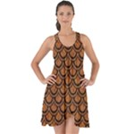 SCALES2 BLACK MARBLE & RUSTED METAL Show Some Back Chiffon Dress