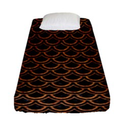 Scales2 Black Marble & Rusted Metal (r) Fitted Sheet (single Size)