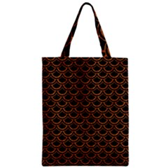 Scales2 Black Marble & Rusted Metal (r) Zipper Classic Tote Bag by trendistuff