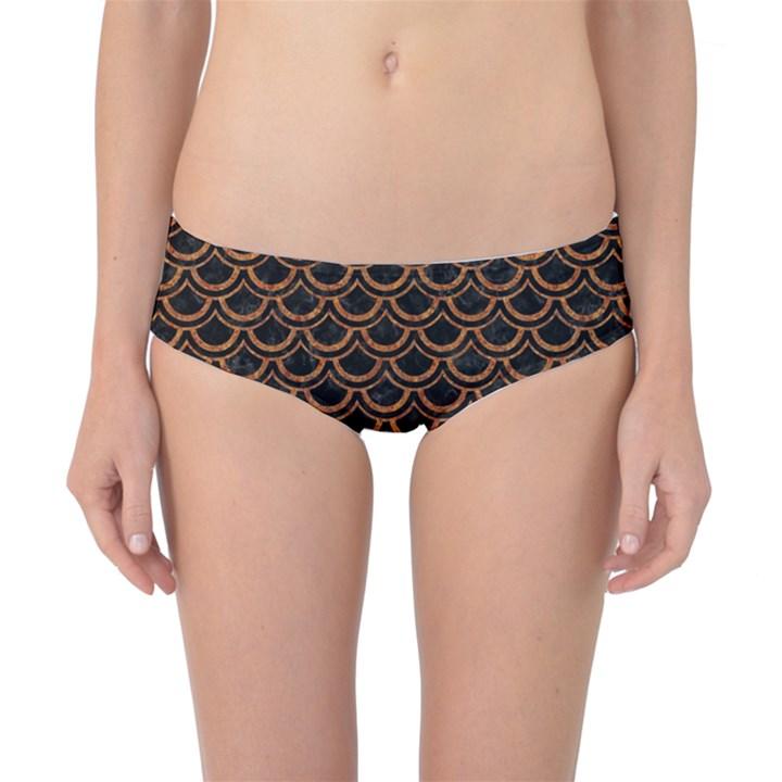 SCALES2 BLACK MARBLE & RUSTED METAL (R) Classic Bikini Bottoms