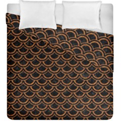 Scales2 Black Marble & Rusted Metal (r) Duvet Cover Double Side (king Size)