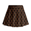 SCALES2 BLACK MARBLE & RUSTED METAL (R) Mini Flare Skirt View1
