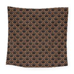 SCALES2 BLACK MARBLE & RUSTED METAL (R) Square Tapestry (Large)