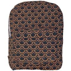 Scales2 Black Marble & Rusted Metal (r) Full Print Backpack