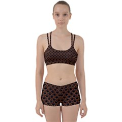 Scales2 Black Marble & Rusted Metal (r) Women s Sports Set