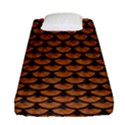 SCALES3 BLACK MARBLE & RUSTED METAL Fitted Sheet (Single Size) View1