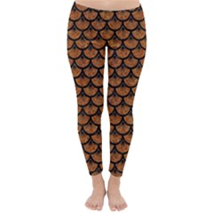 Scales3 Black Marble & Rusted Metal Classic Winter Leggings