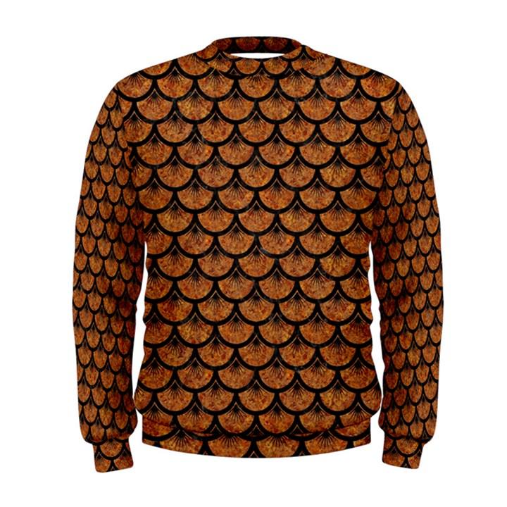 SCALES3 BLACK MARBLE & RUSTED METAL Men s Sweatshirt