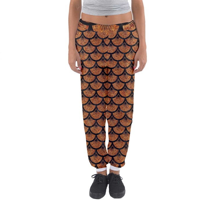 SCALES3 BLACK MARBLE & RUSTED METAL Women s Jogger Sweatpants