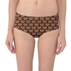 SCALES3 BLACK MARBLE & RUSTED METAL Mid-Waist Bikini Bottoms