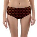SCALES3 BLACK MARBLE & RUSTED METAL Reversible Mid-Waist Bikini Bottoms View1