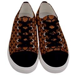 Scales3 Black Marble & Rusted Metal Men s Low Top Canvas Sneakers