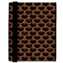 SCALES3 BLACK MARBLE & RUSTED METAL (R) Samsung Galaxy Tab 8.9  P7300 Flip Case View3