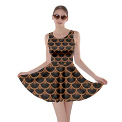 Scales3 Black Marble & Rusted Metal (r) Skater Dress