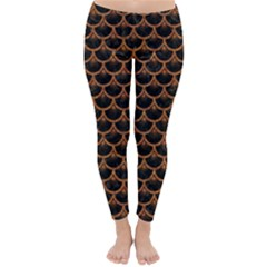 Scales3 Black Marble & Rusted Metal (r) Classic Winter Leggings