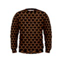 SCALES3 BLACK MARBLE & RUSTED METAL (R) Kids  Sweatshirt View1